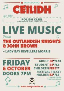 Derby Ceilidhs Folk Festival Poster